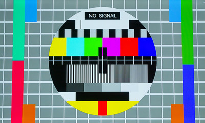 No signal and Television test screen