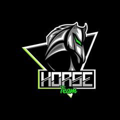 horse iron head mascot