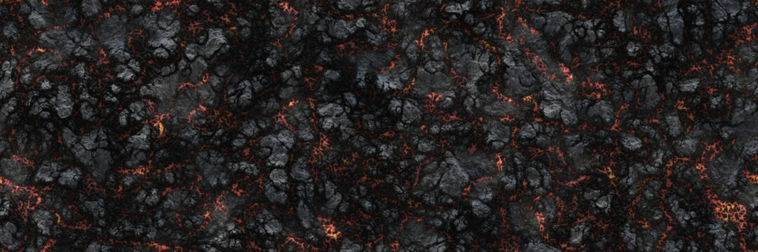 Burned charcoal- glowing surface of the coals. Abstract nature p