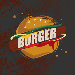 burger nad fast food stylized vector symbol