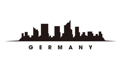 Wall Mural - Berlin skyline and landmarks silhouette vector
