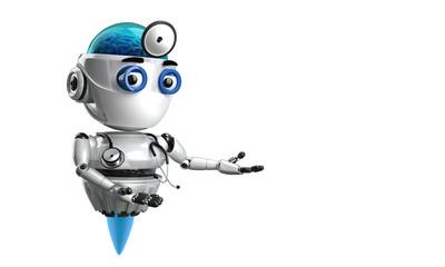 3d, doctor, friendly, future, futuristic, illustration, intelligence, isolated, present, presentation, render, robot, robot doctor, technology