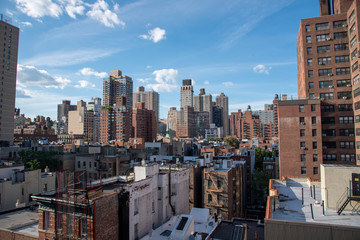 Upper East Side in Manhattan from a high up location