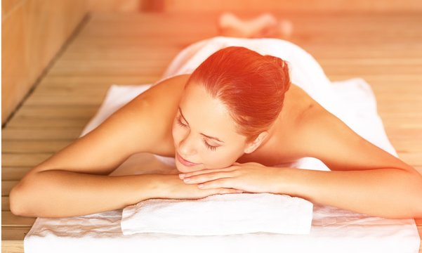 Young woman relaxing in spa.Healthcare and beauty concept.