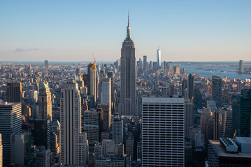 Photo sur Aluminium New York Looking South from the top of Manhattans midtown (NYC, USA)