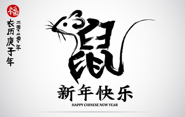 Chinese calendar for the year of rat 2020