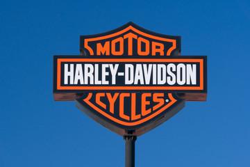 Harley-Davidson Motorcyle Sign and Logo