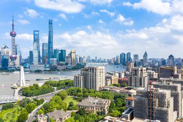 parnoramic city skyline in shanghai china