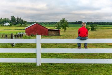 Fence Sitting on a Minnesota Farm