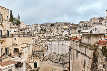 Breathtaking view of the ancient town of Matera, southern Italy.