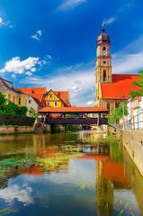 Amberg in der Oberpfalz mit Altstadt und Vils, Bayern