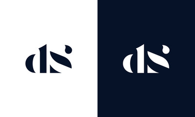 Abstract letter DS logo. This logo icon incorporate with abstract shape in the creative way.