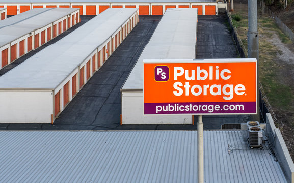 Public Storage Facility Overhead View