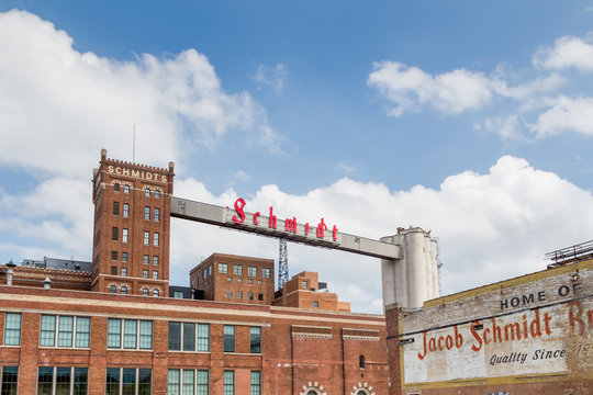 Restored Schmidt Brewery in St. Paul, Minnesota
