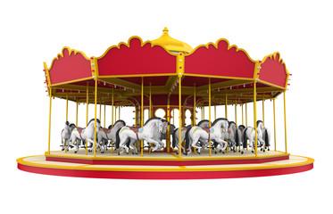 Carousel Horse Isolated