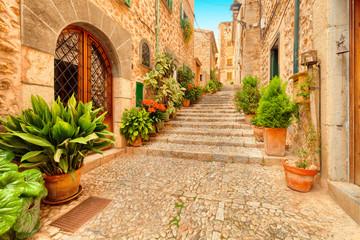 Fornalutx historic city Majorca Spain