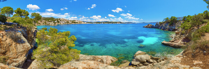 Cala Fornells Majorca Panorama Spain