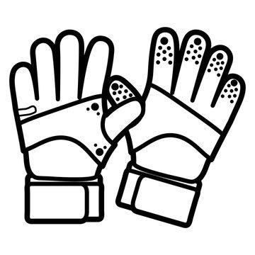Cartoon Goalkeeper Gloves