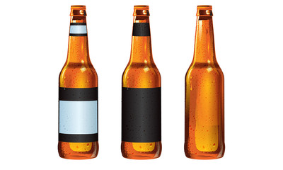 Longneck Beer Bottles with Customizable Labels