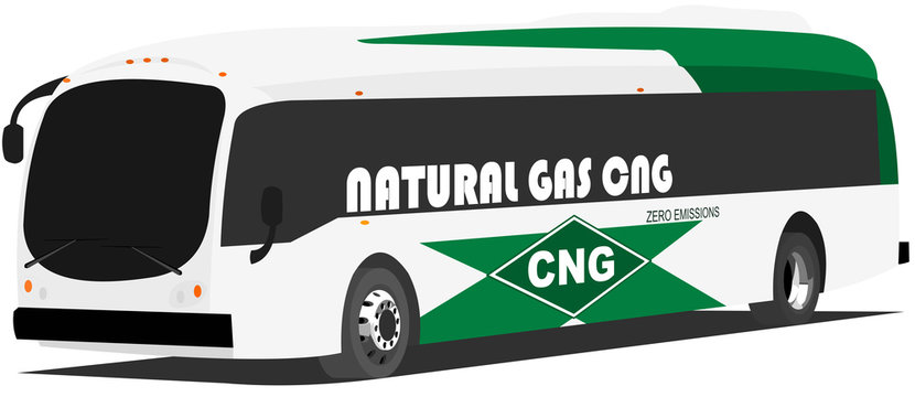 Bus natural gas CNG - ecological public transport