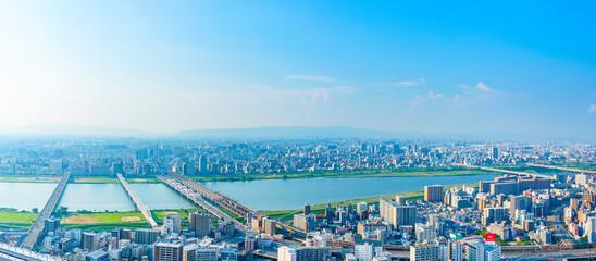 Fototapeta 大阪・都市風景・パノラマ obraz