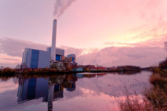 Modern waste-to-energy plant Oberhausen Germany
