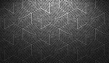 Foto op Canvas Geometrisch Abstract geometric pattern with stripes, lines. Seamless vector background. Black ornament. Simple lattice graphic design