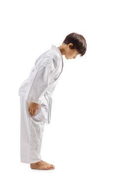Karate kid bowing