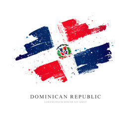 Flag of the Dominican Republic. Vector illustration