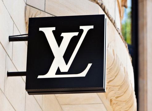 Düsseldorf, Germany - August 20, 2011: Louis Vuitton logo at the store on Königsallee.