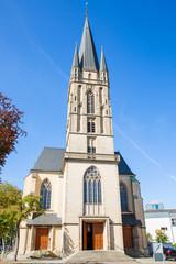 The historic Herz-Jesu Church in Paderborn, Germany