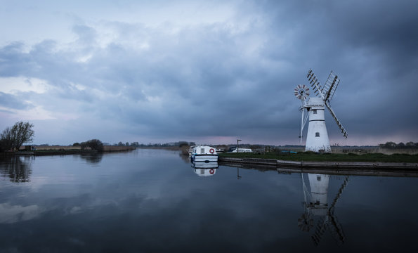 Thurne Dyke Drainage Mill, Norfolk Broads, England