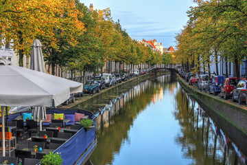 Canal in Delft, Netherlands