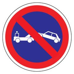 Panneau routier en France : station interdit avec mise en fourrière