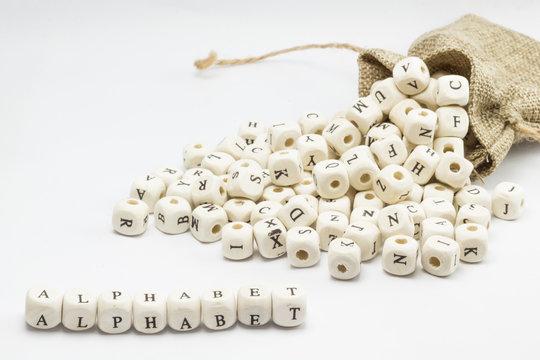 Alphabet Word Written In Wooden Cube