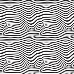 Pattern wavy zebra lines