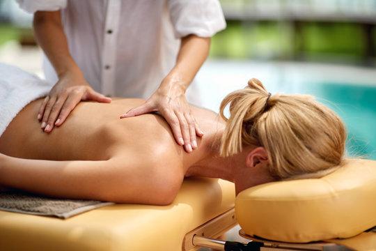 Female on massage treatment