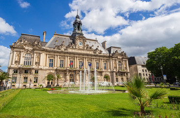 Town Hall and Place Jean Jaures in Tours, France, taken 05/30/2017