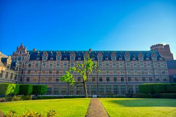 Antwerp, Belgium - April 28, 2019 - The University of Antwerp (Universiteit Antwerpen) is one of the major Belgian universities located in the city of Antwerp, Belgium.