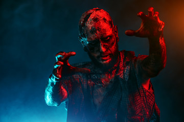 scary zombie man Fototapete