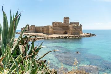 Aragon fortress from XV century  in La Castella, Calabria, Italy