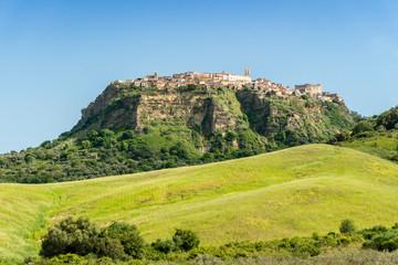 View of historic Santa Severina in Calabria, Italy