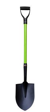 bayonet shovel with green handle