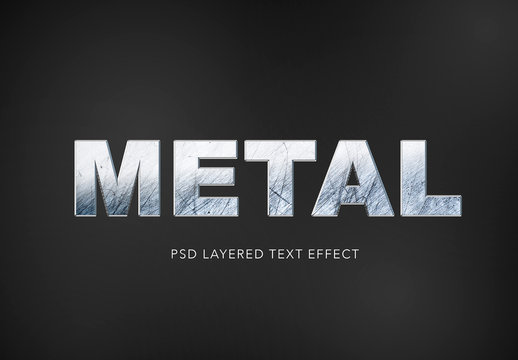 Realistic Metal Texture Text Effect