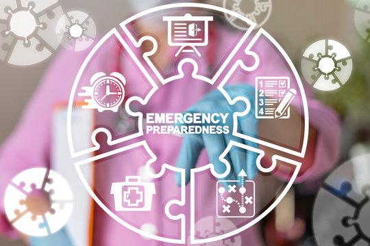 Emergency Preparedness Checklist Plan Health Hospital Patient Evacuation concept.