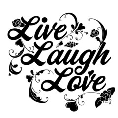 Live Laugh Love Filigree