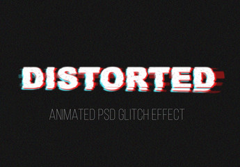 Distorted Glitch Text Effect