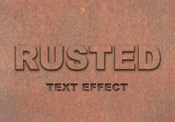 Rust Text Effect