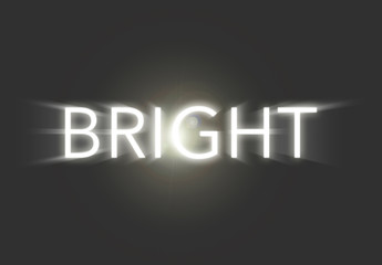 Bright White Light Text Effect