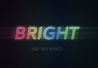Bright Colorful Text Effect with Motion Blur